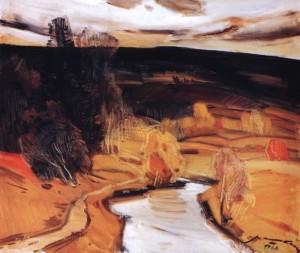 Осінній вечір, 1983, п.о. 59,5х69,8
