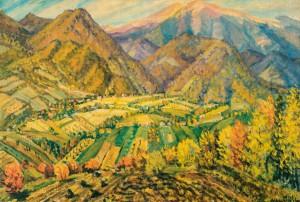 Осінній пейзаж, 1977, кар.о. 70х48