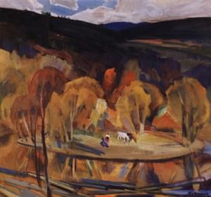 Осінній вечір, 1986, п.о. 80х83