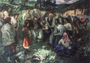 Sermon On The Mount, 1926, oil on canvas, 136x196