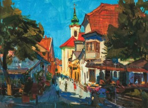 Morning in Szentendre (Hungary), 2010, oil on canvas, 50x70