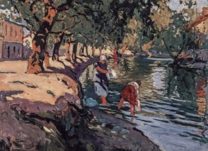 Above The River Uzh, 1924, oil on canvas, 47,5х65