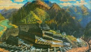 Остання з чорноріцьких плотин, 1952, п.о. 90х151