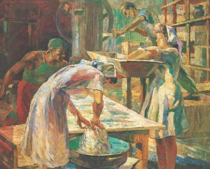 In The Bakery, 1947, oil on canvas, 100х119