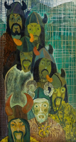 Seven Viziers, 1996, oil on canvas, 128,5х71,5