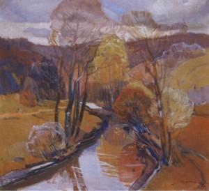 Осінній потік, 1975, п.о. 104х114