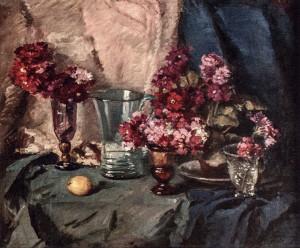 Still Life With Primrose, 1961, oil on canvas, 67x80