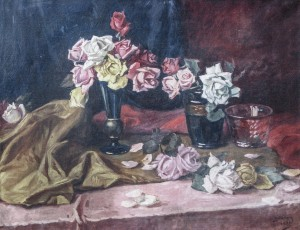 Still Life With Roses, 1930, oil on canvas, 70x90