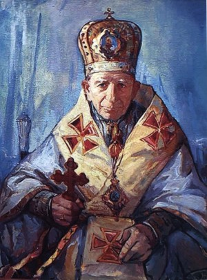 Portrait of Bishop I.Marhitych, 2002, oil on canvas, 90x70