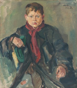 Teaching A Sitting Boy, 1945, oil on canvas, 73,3х64,9