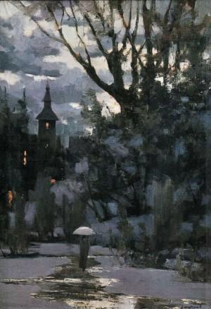 Зимові сутінки, 2009, 100х70