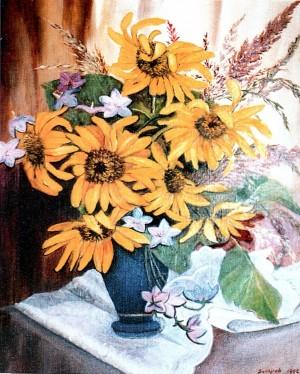 'Sunflowers', 1998, oil on canvas, 49,5х59,6