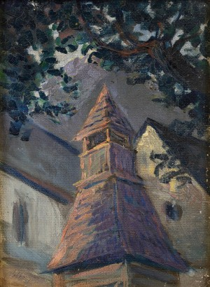 'Wooden Bell Tower', 1930s, oil on canvas, 32x24.jpg