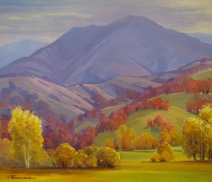 The Carpathians, 2014, oil on canvas, 60х70