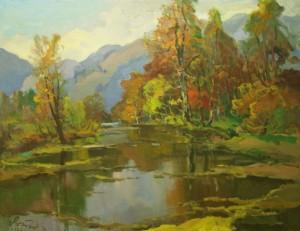 Mountain Landscape, 1986, oil on canvas, 70,5x90