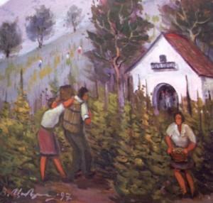 Збір винограду, 1997, п.о., 60х60