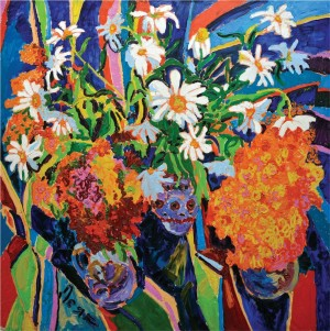 'Flowers', 2009, oil on canvas, 110х110