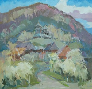 Brightly Blooming Verkhovyna, 2017, oil on canvas, 70x70