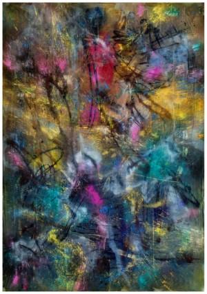 Парк, 2015, тканина, вільний розпис, 200х150