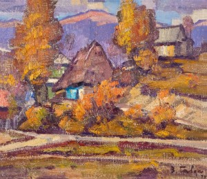 Old Verkhovyna, 1979, oil on canvas, 60x70
