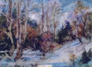 Зима в лютому, 2002, ват.акв., 41х59