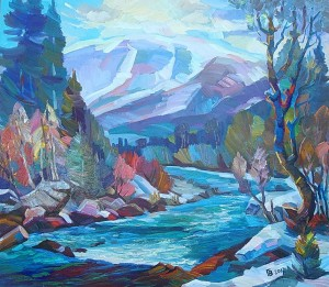Winter Motif. River Black, 2017, oil on canvas, 99x87