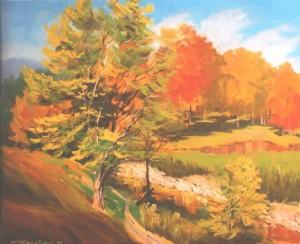 Golden Autumn, 2012, oil on canvas, 60х80