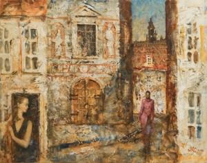 Карташов А. Зустріч, 61x76, п.о. 2004