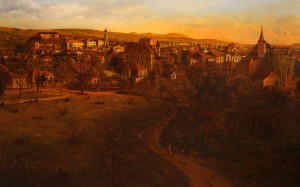 View Of Uzhhorod, 1994, oil on canvas, 100x160