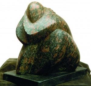 Після чорно-червоного дощу, 1997, граніт, 27х20х23