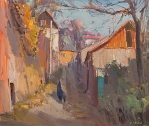 Стара вуличка в Ужгороді, 2016, п.о.