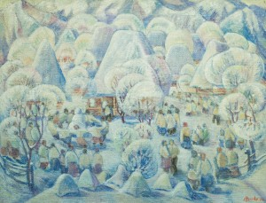 Holiday of Winter. Slavs, 1979, tempera on canvas