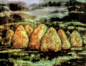 The Sank Valley, 2001, paper, watercolour, 80x50