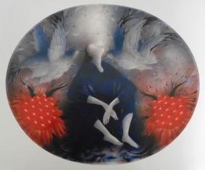 Червоні ягоди, 1991, пап.зм.техн., 38х46
