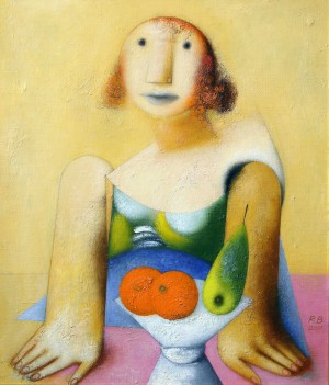 V. Radko Cafeteria Lady', 2012, oil on canvas