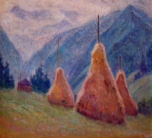 Haycocks, 1975, oil on canvas
