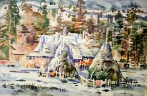 Перший сніг, 1992, карт., 42х27