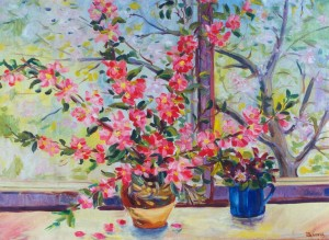 Spring In The Window, 1967, oil on canvas, 56x74