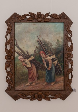 S. Silvai For Firewood', oil on canvas