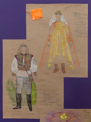 Ескізи костюмів 'Цвіт папороті', 2014