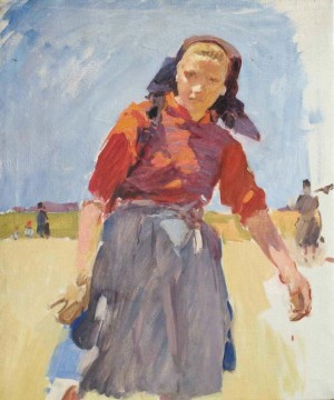 Yulechka, 1957, oil on canvas, 56х46,5