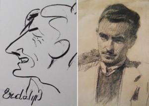 Дружній шарж (художник Антон Кашшай) (друга пол. 1940-х р.р. - перша пол. 1950-х р.р.)
