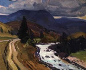 Осіння річка, 1979, п.о. 70х75