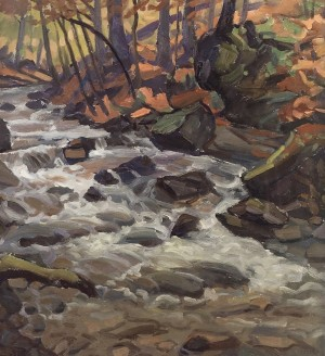 Stream, 2004, oil on cardboard, 80x70