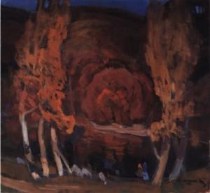 Осіння скеля, 1989, п.о. 65х70