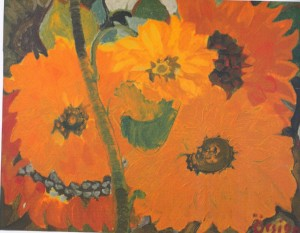 Sunflowers, 1990, oil on canvas, 44х55,5