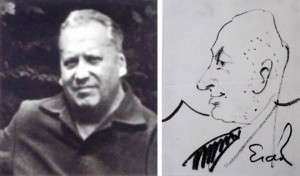 Дружній шарж на художника Адальберта Борецького (кінець 1940-х - поч. 1950-х р.р.)