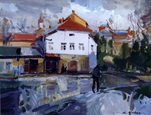 After the Rain, 2008, oil on canvas, 65x70