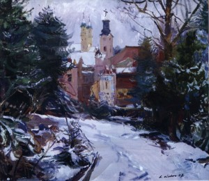 First Snow, 2007, oil on canvas, 80x80