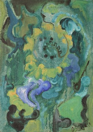 Sunflowers, from the photo archive of Y. Nebesnyk, 1993, oil on canvas, 68x48